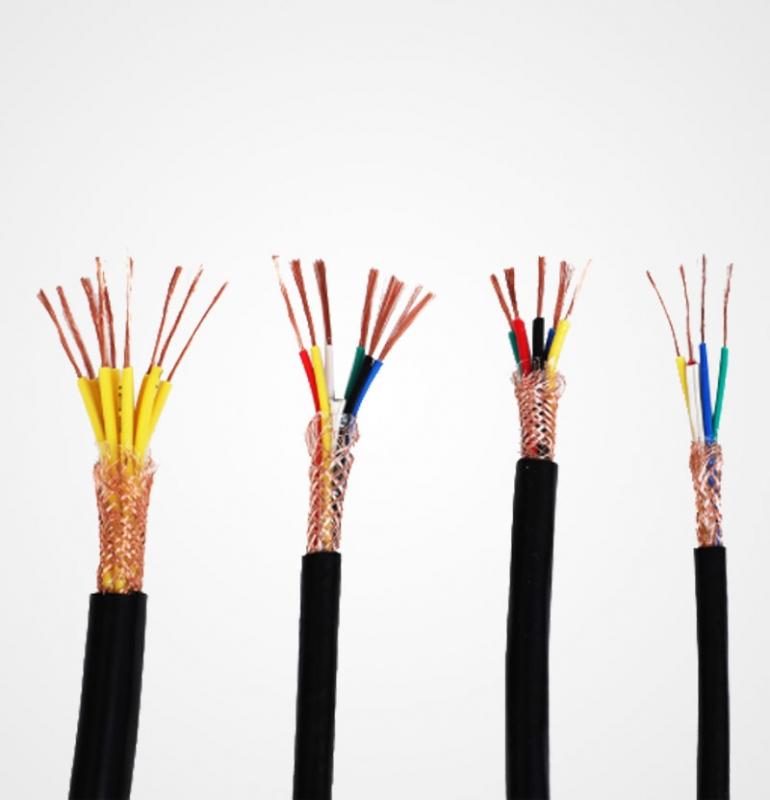 铜芯聚氯乙烯绝缘屏蔽聚氯乙烯护套软电缆